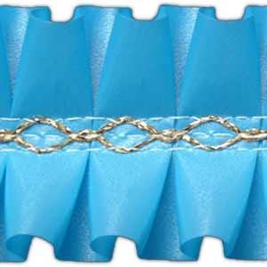 Лента декоративная  1 м голубая