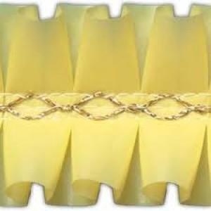 Лента декоративная  1 м желтая