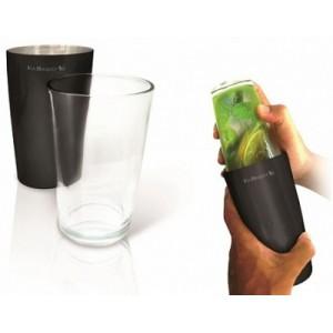 Шейкер нерж  0,75 л  со стекл.стаканом BOSTON Испания