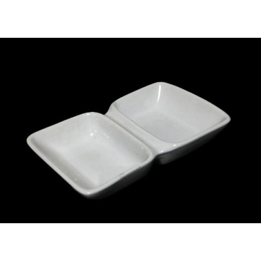 Соусник 2-х секционный 120*70 мм, Креманки и салатницы