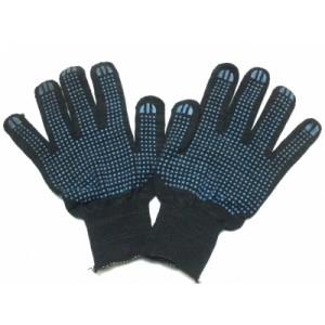 Перчатки х/б с ПВХ 5 ниток черные