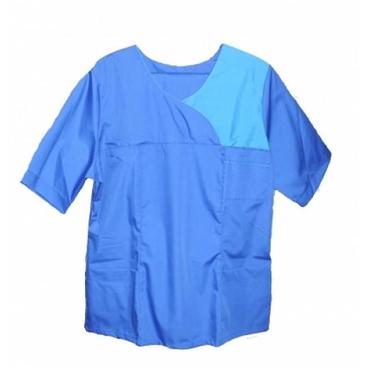 Костюм (к+брюки) ткань Тиси кор рукав с отделкой, Спецодежда (ткань)