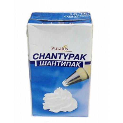 Крем на раст-жировых маслах ШАНТИПАК 26% 1 л (сливки), Кондитерские ингредиенты