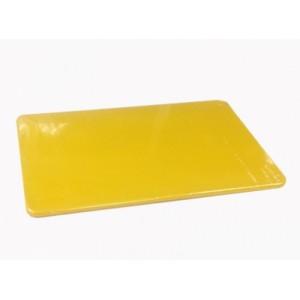 Доска разделочная 450*300*13мм пластмассовая желтая