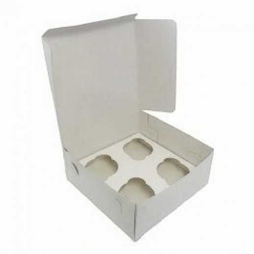 Упаковка для капкейков на 4 шт 160*160*100 мм, Тортницы, коробки для торта и пирожных