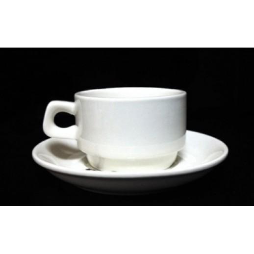 Чайная пара 150мл Кажуб Kunst Werk PL 99002222, Фарфоровая посуда KUNST WERK P. L.