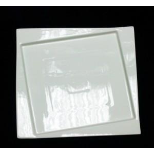Тарелка квадрат смещен дно 25*25см Kunst Werk PL 99000075