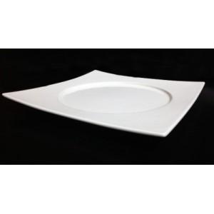 Тарелка квадратная 24*24 см с кругл центром d 18 см Kunst Werk PL 99004125
