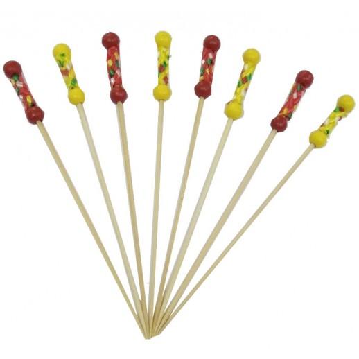Пика 12 см РИО бамбук 100 шт OPTILINE 10-1113, Украшения для коктейлей и канапе, трубочки