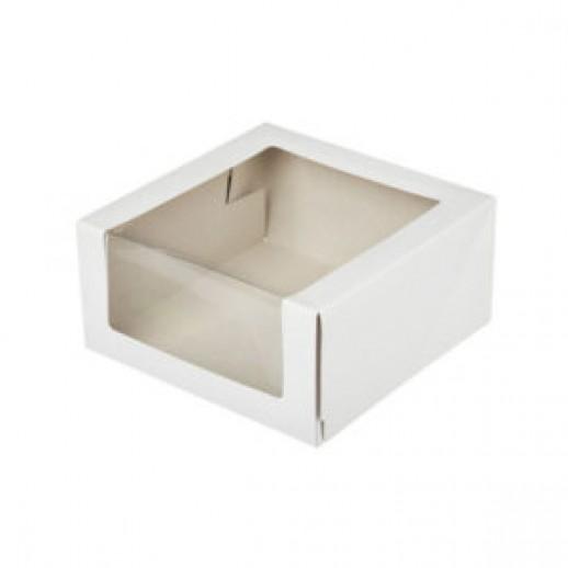 Упаковка для торта 180*180*100 мм с окном КТ 100, Тортницы, коробки для торта и пирожных