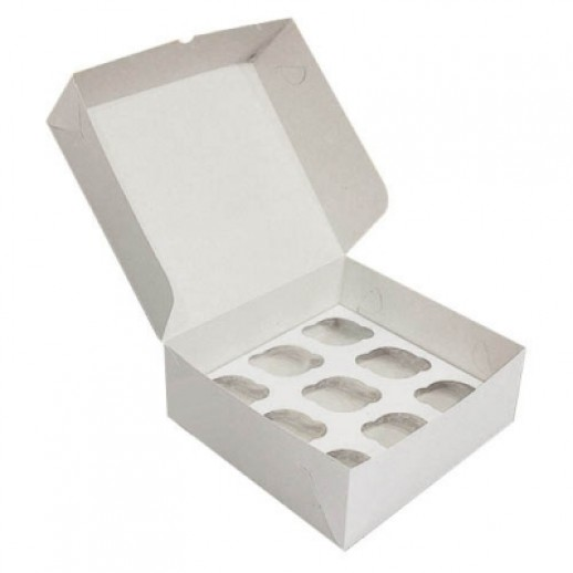 Упаковка для капкейков на 9 шт 250*250*100, Тортницы, коробки для торта и пирожных