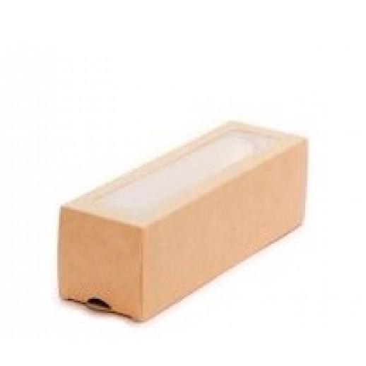 Упаковка для макаронс 6 шт ECO MB 6 180*55*55 мм, Картонная упаковка, бумажные крафт пакеты
