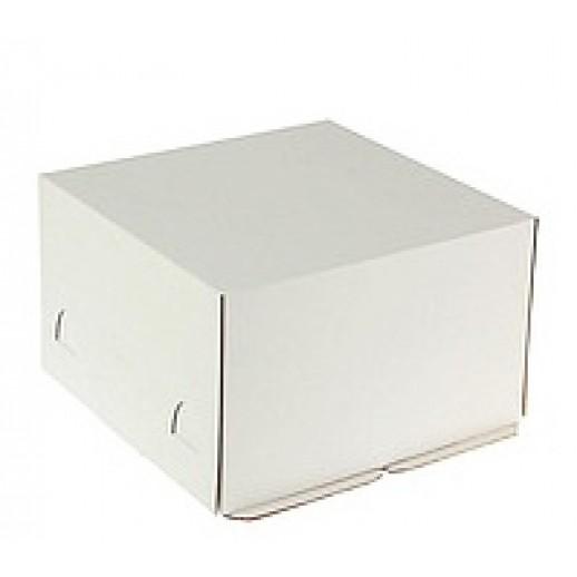 Короб картонный бел Pasticciere 300*300*190 мм, хром-эрзац ЕВ190ХЭ, Тортницы, коробки для торта и пирожных