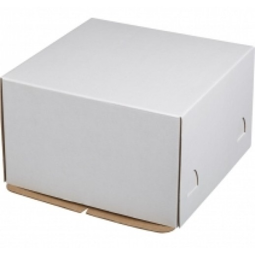 Короб картонный бел Pasticciere 300*300*190 мм EB300H, Тортницы, коробки для торта и пирожных