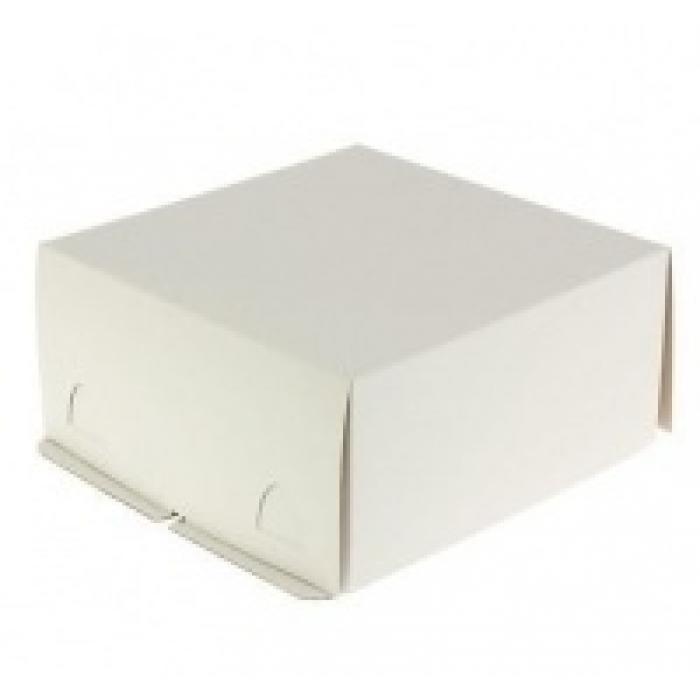 Короб картонный бел Pasticciere 280*280*140 мм, хром-эрзац ЕВ140ХЭ, Тортницы, коробки для торта и пирожных