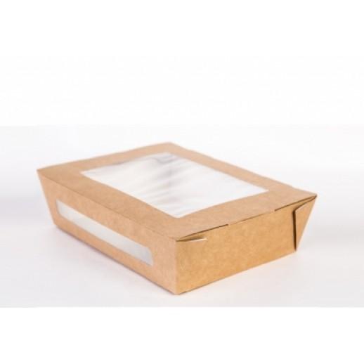 Упаковка ECO SALAD 600 130*95*50, Картонная упаковка, бумажные крафт пакеты