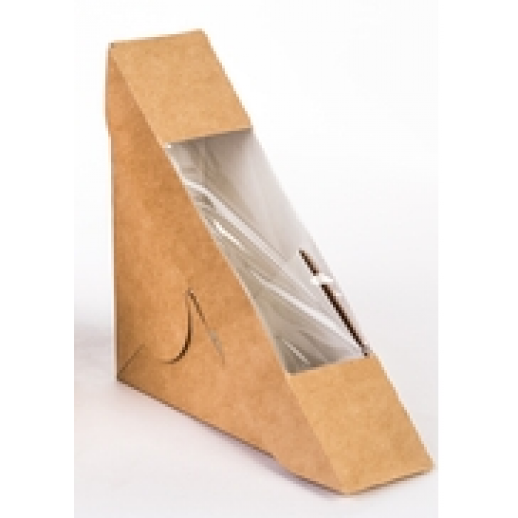 Упаковка ECO SANDWICH 50 130*130*50 мм, Картонная упаковка, бумажные крафт пакеты
