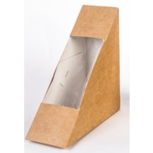 Упаковка ECO SANDWICH 70 130*130*70 мм, Картонная упаковка, бумажные крафт пакеты