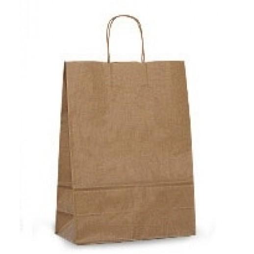 Упаковка ECO CarrBAG 26*15*35 с ручками, Картонная упаковка, бумажные крафт пакеты