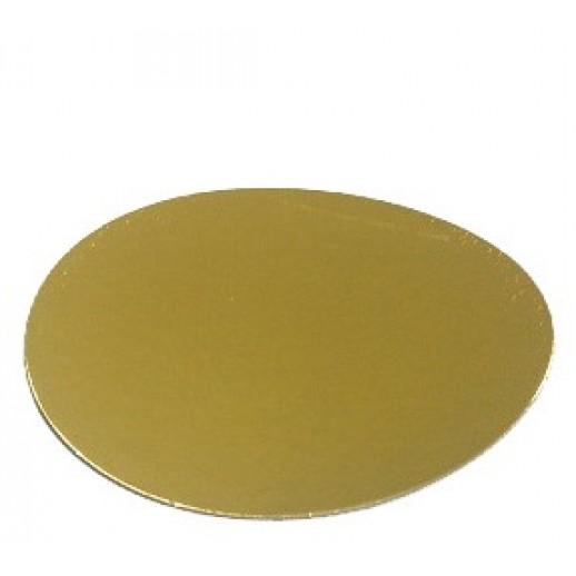 Подложка усилен золото/жемчуг 280мм (толщ1,5мм) GWD280(1,5мм), Подложки и подносы для тортов
