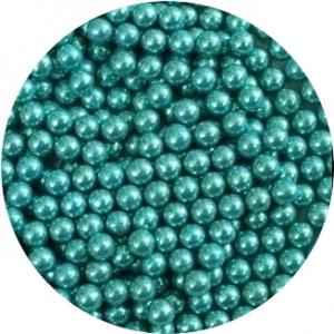 Шарики сахарные голубые 5 мм перламутр 100 гр 33024