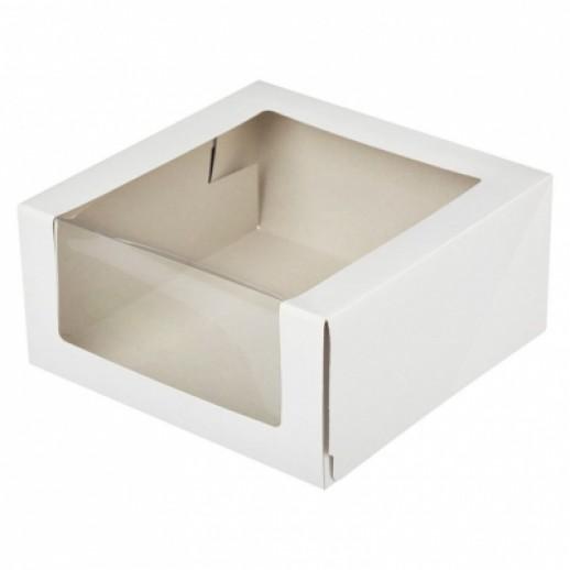 Упаковка для торта с окном 225*225*110 мм, Тортницы, коробки для торта и пирожных