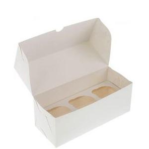 Упаковка для капкейков на 3 шт 100*250*100 мм