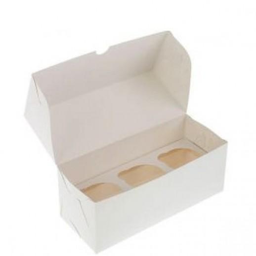 Упаковка для капкейков на 3 шт 100*250*100 мм, Тортницы, коробки для торта и пирожных