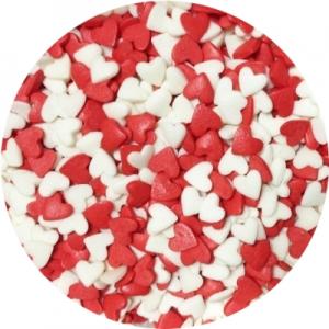 Посыпка Сердечки красно-белые 250 гр 16038