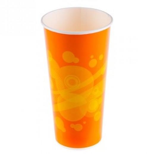 Стакан одноразовый бумажный ФРЭШ 500 мл для холодных напитков 45 шт