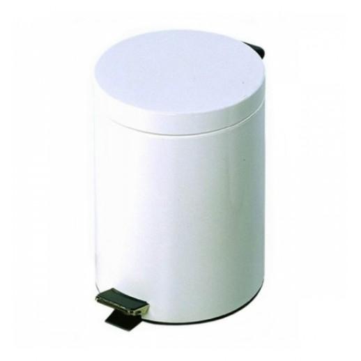 Prestige Контейнер с педалью 3л  для мусора белый, Туалетная бумага, бумажные полотенца