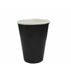 Стакан одноразовый для кофе 450 мл ЧЕРНЫЙ 50 шт