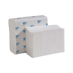 Полотенца листовые V 2-слойные супербелые мягкие НРБ (20шт в коробке )