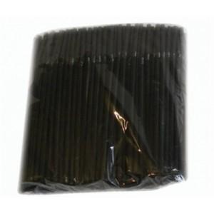Трубочка коктейльная черная в индивидуальной упаковке 8*240 без изгиба 250 шт