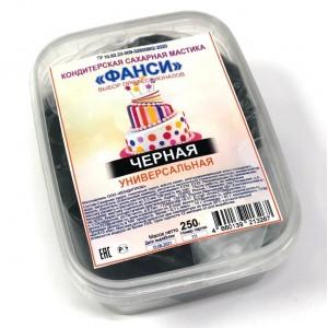 Мастика сахарная черная универсальная ФАНСИ 0,25кг Россия