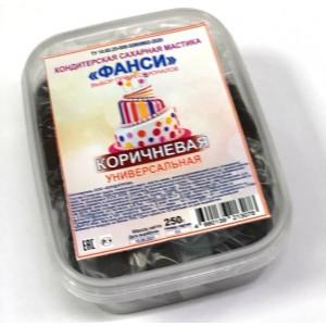 Мастика сахарная коричневая универсальная ФАНСИ 0,25кг Россия