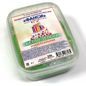 Мастика сахарная светло-зеленая универсальная ФАНСИ 0,25кг Россия