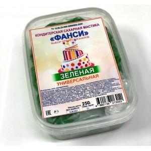 Мастика сахарная зеленая универсальная ФАНСИ 0,25кг Россия