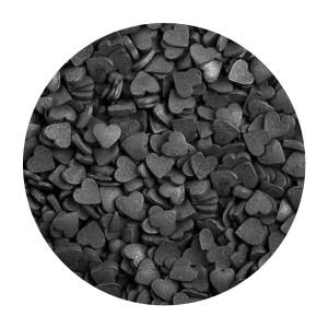 Посыпка Сердечки черные мини 100 гр 62998