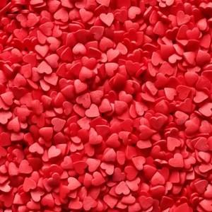 Посыпка Сердечки красные мини 250 гр 16069