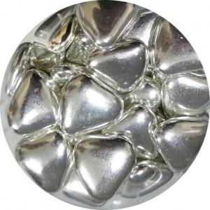 Сердечки шоколадные серебряные 100 гр 33128