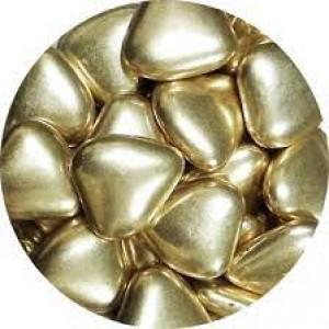 Сердечки шоколадные золотые 100 гр 33122/33129