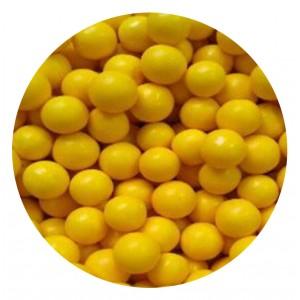 Шарики сахарные желтый глянец 10 мм 18861