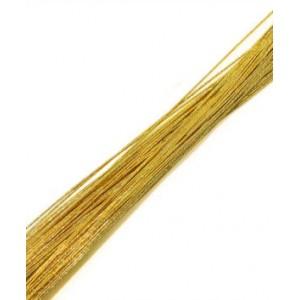 Кондитерская проволока золотая 35 см 10 шт d 0,45 мм 12314
