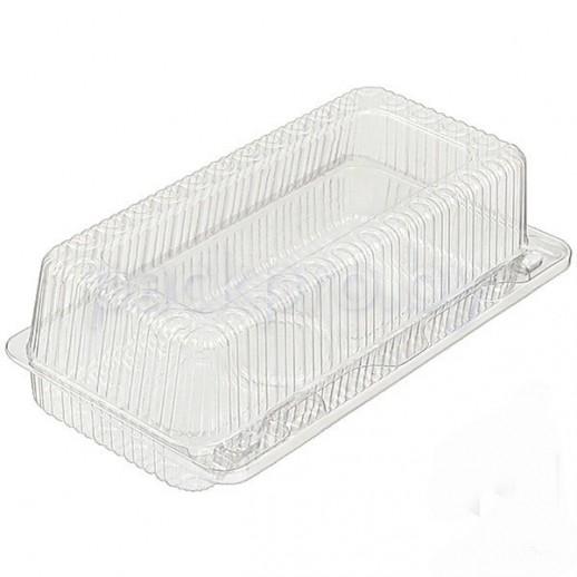 Контейнер пластик однораз прямоуг 19*8*6 см ПР-К-19В, Тортницы, коробки для торта и пирожных