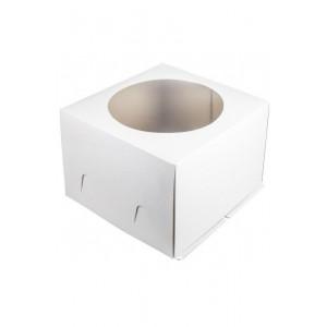 Короб картонный БЕЛЫЙ с окном 240*240*120 мм 010000