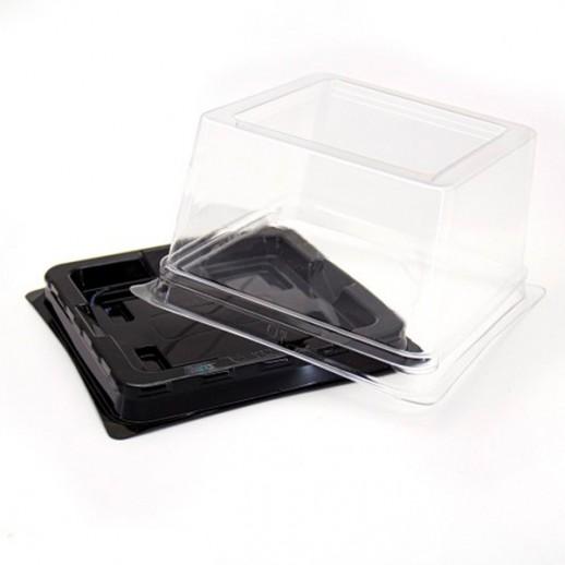 Контейнер для пирожных черн дно 10*10 h 8см ПР-Т-138, Тортницы, коробки для торта и пирожных