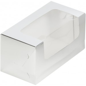Упаковка для кекса 200*100*100 мм серебро 073001