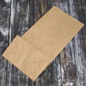 Упаковка пакет бумажный прямоуг дно крафт 240*120*75