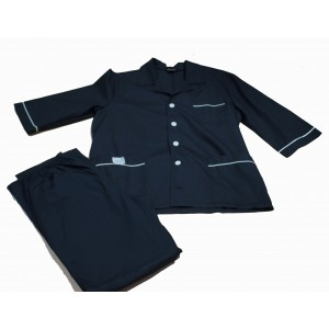 Костюм мужской однобортный,с кор.рукавом,с воротником,тк сорочка,черный